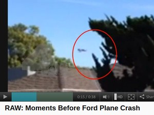 Rede NBC mostra vídeo do avião de Harrison Ford logo antes de acidente (Foto: Reprodução / NBC)