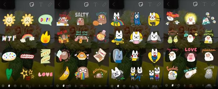Novos stickers são incluídos na atualização do Snapchat (Reprodução/Carol Danelli)