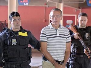Ex-bicheiro João Arcanjo Ribeiro enfrenta júri em Cuiabá, Mato Grosso (Foto: Reprodução/TVCA)