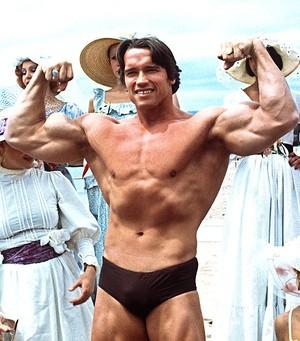 Arnold Schwarzenegger 1977 arquivo (Foto: Getty Images)