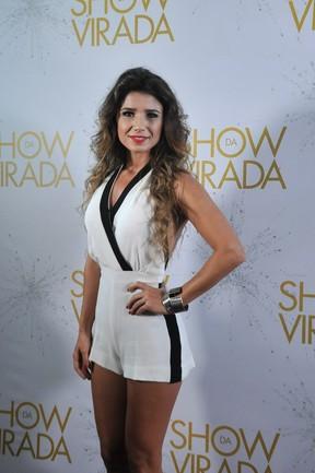 """Paula Fernandes na gravação do """"Show da virada"""" em Salvador, na Bahia (Foto: Marcelo Machado/ EGO)"""