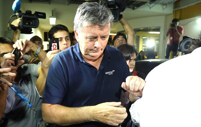 Ray Whelan na delegacia caso cambistas (Foto: Fábio Motta / Agência Estado)