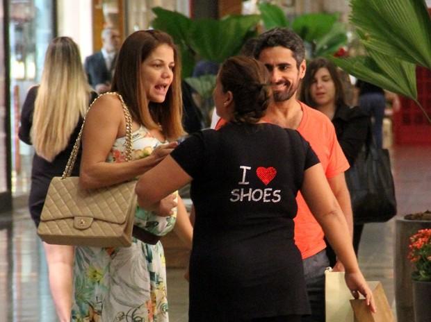 Nivea Stelmann com a família (Foto: Marcus Pavão / AgNews)
