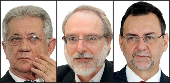 Da esquerda para direita, Wilson Santarosa, Armando Trípodi e Diego Hernandes (Foto: Paulo Negreiros (2) e Marcos De Paula/Estadão Conteúdo)