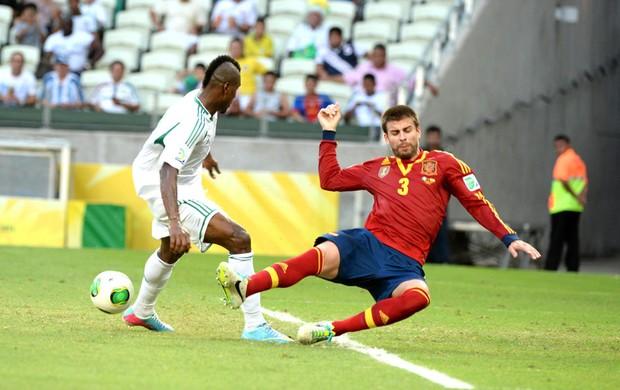 Pique Nigéria e Espanha (Foto: Andre Durão)