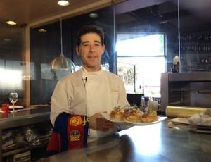 Chefe de cozinha espanhol (Foto: Cristiane Mussi/Globoesporte.com)