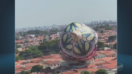 Grupo é detido após queda de balão sobre 6 residências em Campinas, SP