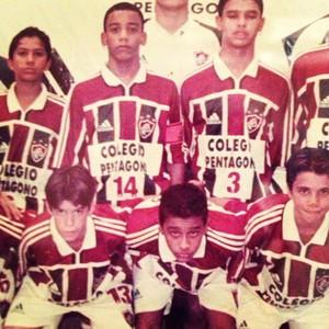 Marcelo e Caio jogavam juntos no Fluminense (Foto: Reprodução/Instagram)