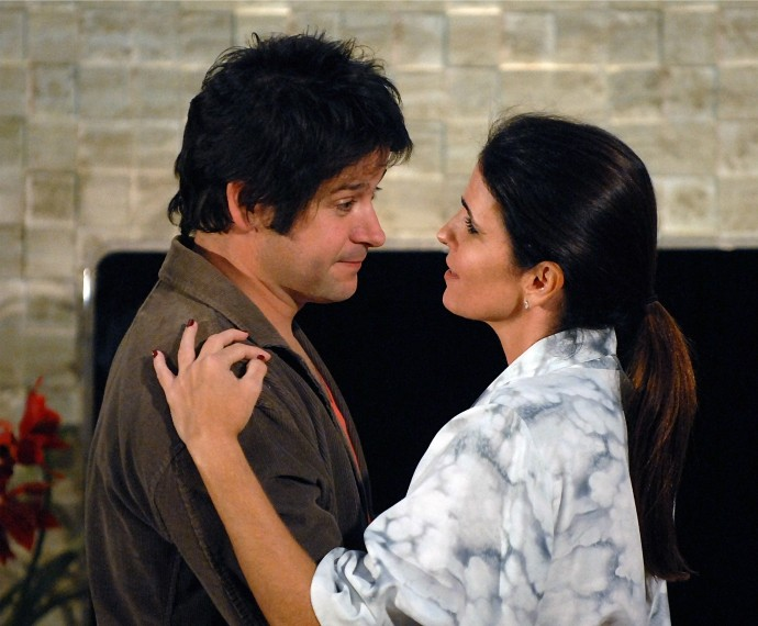 Malu Mader com Murilo Benício no remake de Ti Ti Ti (Foto: Cdoc/TV Globo)