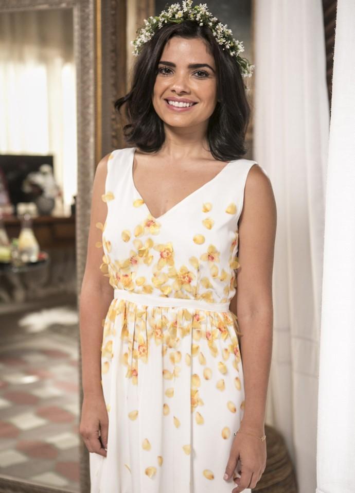 Confira o look de Tóia para o casamento com Juliano (Foto: Inácio Moraes/ Gshow)