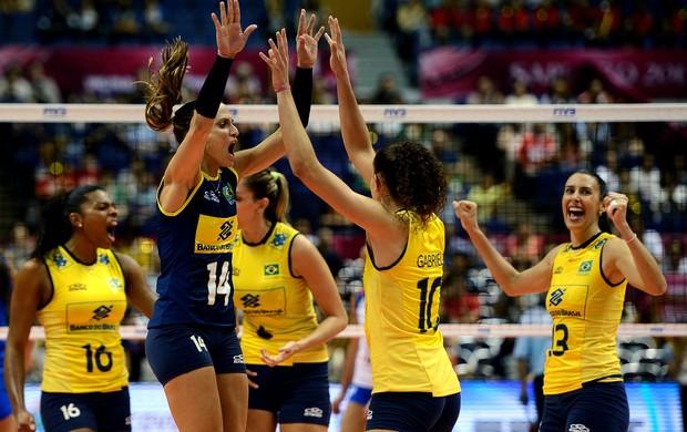 Brasil x Sérvia, Grand Prix de vôlei (Foto: Divulgação / FIVB)