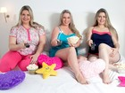 Modelos plus size fazem ensaio de pijama