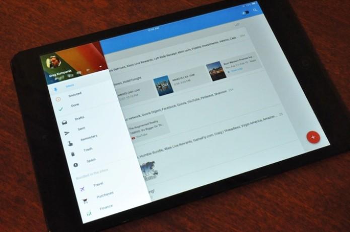 O aplicativo Inbox do Google está disponível para iPads e tablets Android (Foto: Reprodução/TechCrunch)