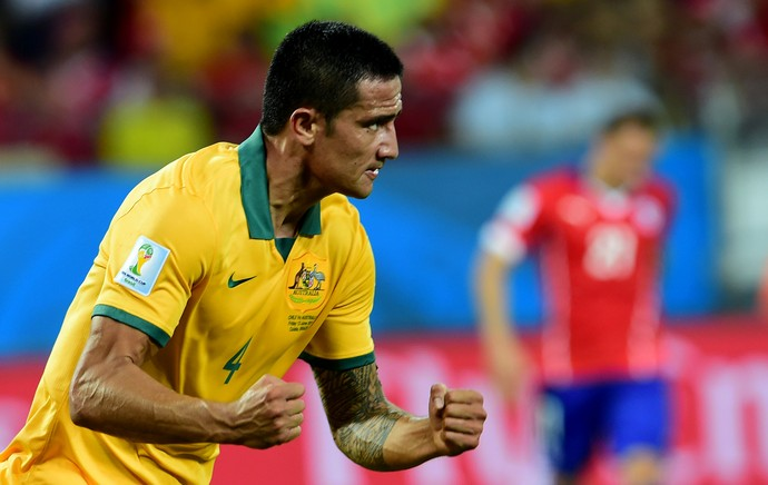 Cahill Chile x Austrália (Foto: Getty Images )