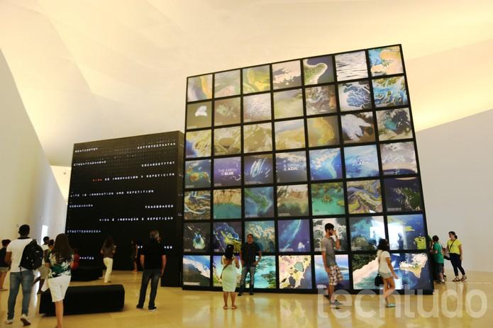O Museu é dividido por seções (Foto: Luana Marfim/TechTudo)