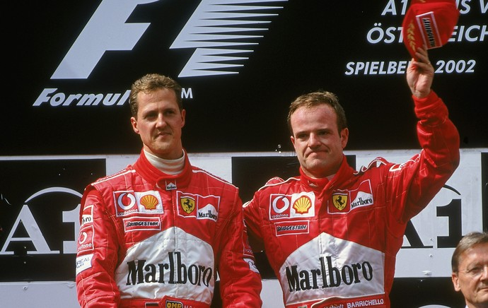 Michael Schumacher Barrichello austria 2002 (Foto: Getty Images)