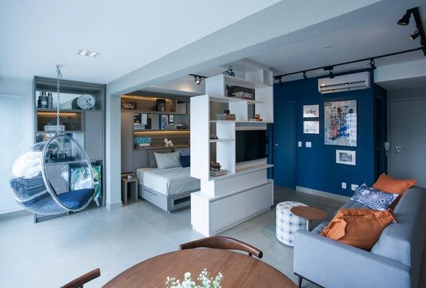 apartamento-sala-varanda-quarto (Foto: Divulgação/Rafael Muner   )