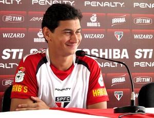 Paulo Henrique Ganso em entrevista no São Paulo  (Foto: Carlos Augusto Ferrari / Globoesporte.com)