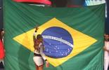 Ludmilla faz atleta olímpico desaparecer do palco do 'Domingão'
