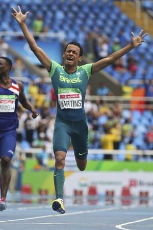 Daniel Martins campeão paralímpico 400m T20 atletismo rio 2016 (Foto: Reuters)