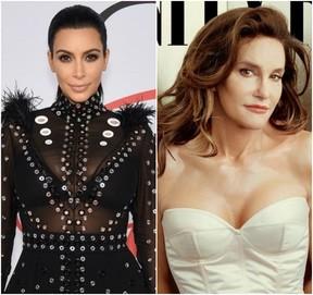 Kim Kardashian e Caitlyn Jenner (Foto: AFP/Reprodução)