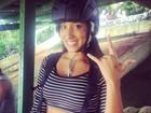 Talita Araújo se prepara para saltar de asa delta: 'Aqui o que rola é coragem'