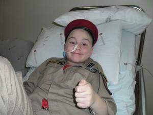João Bombeirinho comemorou a saída do hospital nesta segunda-feira (12) (Foto: Arquivo pessoal)