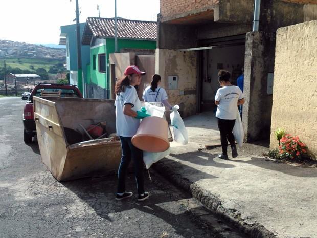 Agentes de saúde participam de mutirão em Andradas (Foto: Reprodução Whatsapp)