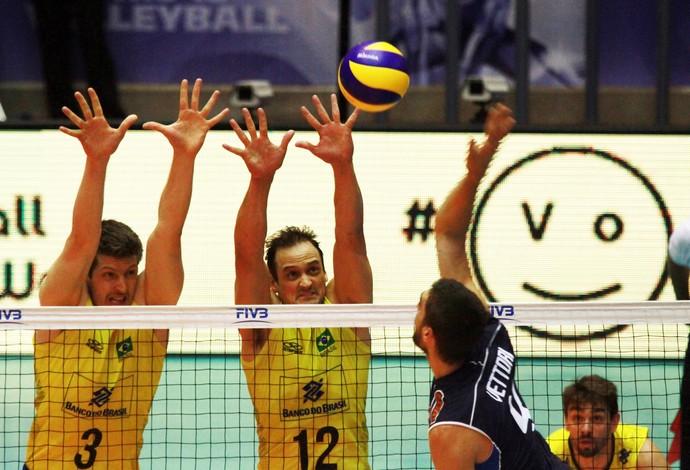 Brasil x Itália Liga Mundial jogo 2 Cuiabá vôlei (Foto: Divulgação/FIVB)