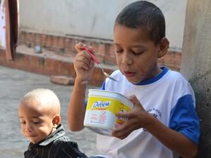 Gustavo Kenedi é bom de garfo e não recusa arroz com feijão (Foto: Fábio de Sousa/Arquivo pessoal)