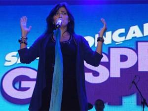 Fernanda Brum foi uma das atrações do evento (Foto: Aline Pollilo/G1)