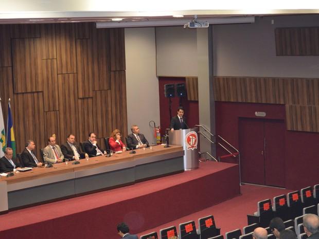 Promotor de Justiça Nilzir Soares é empossado presidente da ASMP (Foto: Tássio Andrade / G1)
