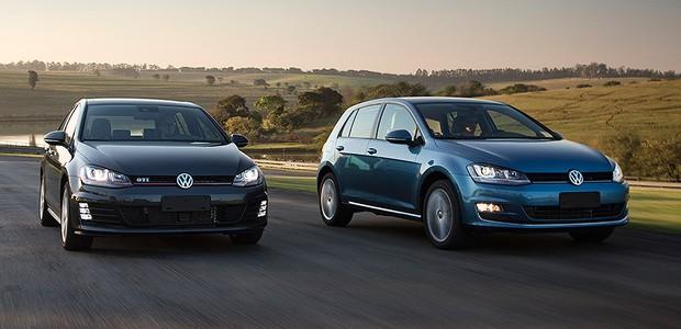 Volkswagen Golf GTi e Highline (Foto: Fabio Aro/Autoesporte)