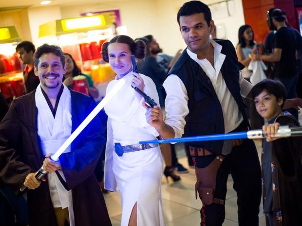 Estreia do episódio VII atraiu fãs para cinema em Maceió (Foto: Jonathan Lins/G1)