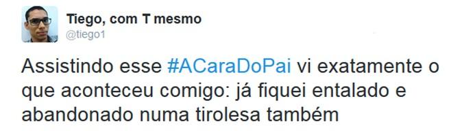 Internauts comentam estreia de 'A Cara do Pai' nas redes sociais (Foto: Reprodução)