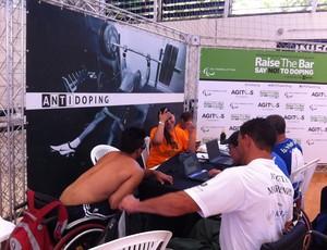 Paratletas recebem informações sobre antidopagem em eventos do CPB (Foto: João Marcelo Sena)