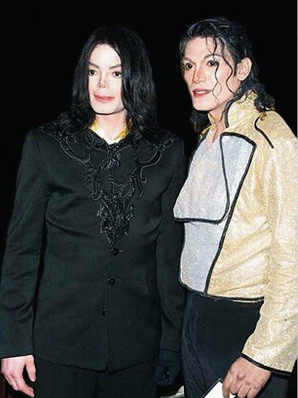 Michael Jackson e o ator Navi (Foto: Reprodução)