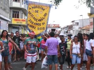 Bloco animou a primeira tarde do ano no bairro Madre Deus (Foto: Flora Dolores/O Estado)