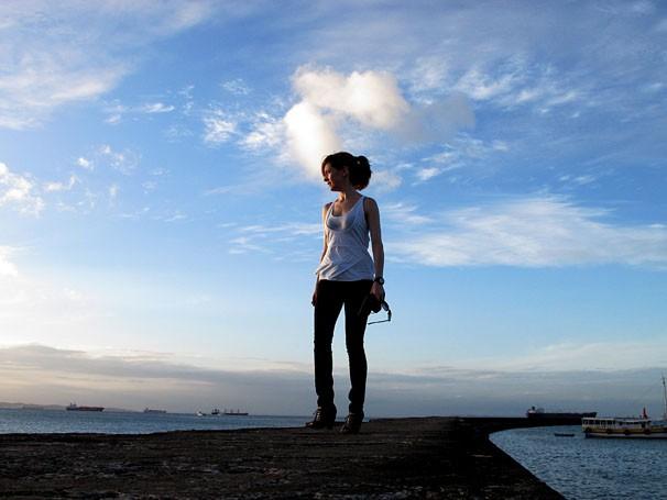 Camila Morgado grava microssérie na Bahia (Foto: Divulgação/TV Globo)
