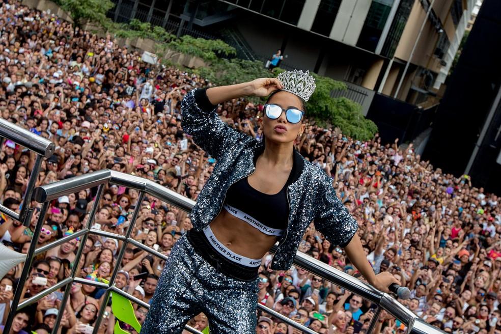 Cantora Anitta na Parada Gay de São Paulo, na Avenida Paulista (Foto: Paulo Lopes/Futura Press/Estadão Conteúdo)