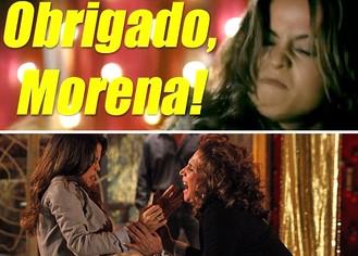 Obrigado, Morena! (Foto: Salve Jorge / TV Globo)
