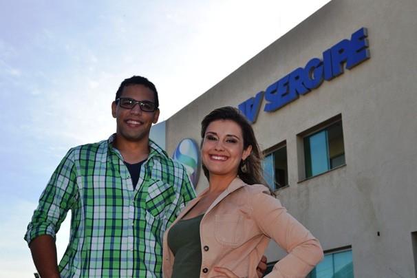 Danilo Mecenas e Priscila Bittencourt (Foto: TV Sergipe/Divulgação)