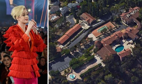 A cantora Katy Perry e a propriedade anteriormente pertencente às freiras (Foto: Getty Images/Reprodução)