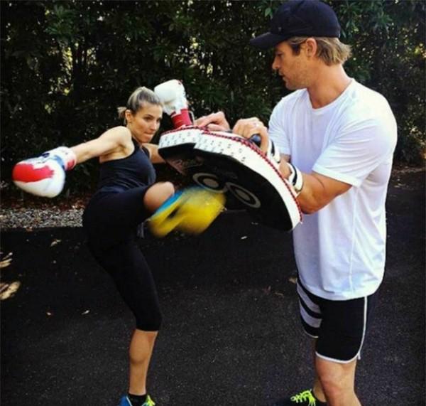 O ator Chris Hemsworth e sua esposa, Elsa Pataky  (Foto: Reprodução)