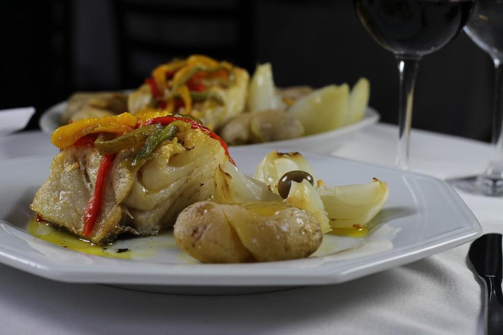 Bacalhau Lagareiro é um dos pratos do Restaurante João Bacalhau (Foto: Restaurante João do Bacalhau/ Divulgação)