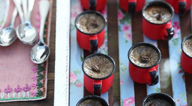 Potinho cremoso de café com leite  (Foto:  )