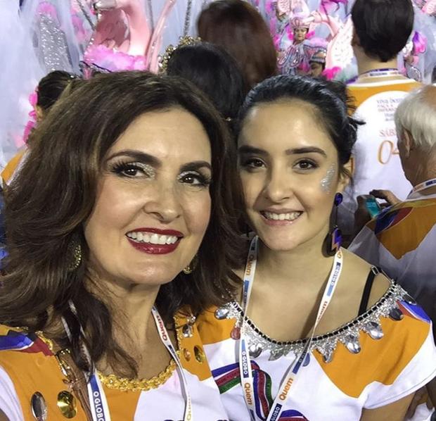 Fátima Bernardes e a filha (Foto: Reprodução / Instagram)
