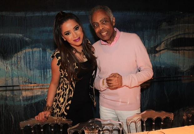 Anitta e Gilberto Gil (Foto: Celso Tavares/EGO)