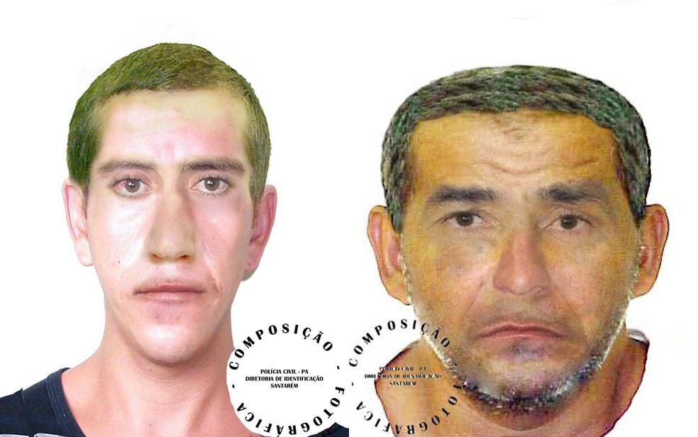Retrato falado foi concluído e divulgado pela Polícia Civil (Foto: Polícia Civil do Pará/Divullgação)