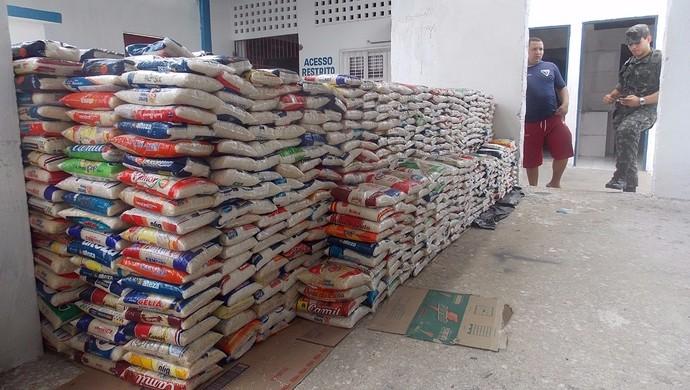 alimentos, doação, Fortaleza (Foto: Fortaleza/Divulgação)
